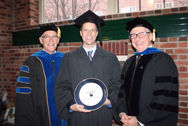 Mike Schugt at Penn State University where he delivered the commencement address